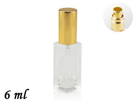 Флакон для духов с пульверизатором, стекло, 6 ml
