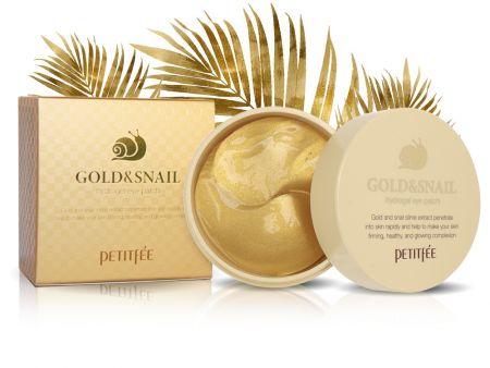 Гидрогелевые омолаживающие патчи Petitfee Gold&Snail, 60 шт
