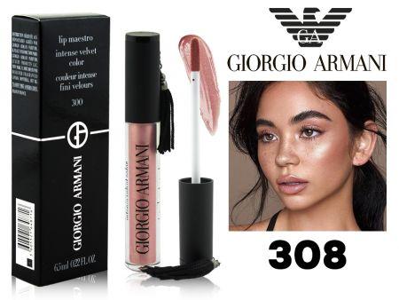 Глянцевый перламутровый блеск Giorgio Armani Lip Maestro, ТОН 308