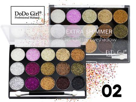 Мерцающие гелевые тени с блестками Do Do Girl, 15 цветов, ТОН 02
